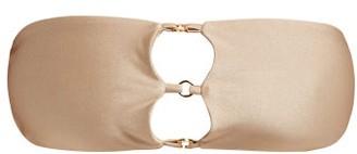 JADE SWIM Ace 3-ring Bandeau Bikini Top - Womens - Nude