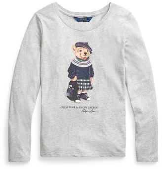 Ralph Lauren Kids School Polo Bear T-Shirt (2-4 Years)