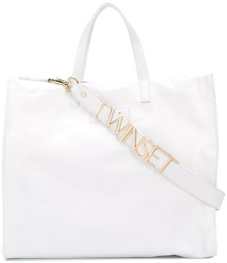 Twin-Set Structured Leather Tote