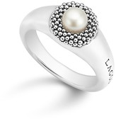 Lagos Sterling Silver Luna Cultured Freshwater Pearl Caviar Bezel Ring