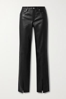 Rag & Bone Cate Leather Flared Pants - Black