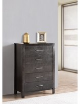 Everly Raye 5 Drawer Chest Quinn Color: Charcoal