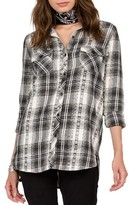 Volcom Women's Sano Dayz Plaid Tie Front Shirt