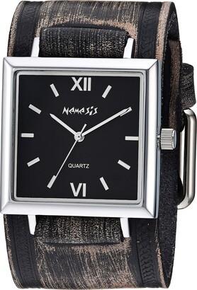 Nemesis Raven Stainless Steel Analog-Quartz Leather Strap Grey 38.3 Casual Watch (Model: VHST246K)