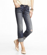 Express Low Rise Cropped Cuffed Skinny Leg Jean