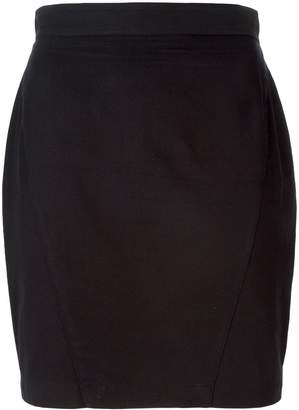 Thierry Mugler Pre-Owned high waisted mini skirt
