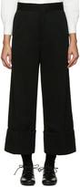 Y's Ys Black Wide-leg Chino Trousers