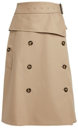 Proenza Schouler Trench Cotton Midi Skirt