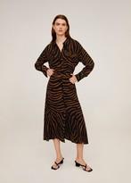 MANGO Zebra print skirt black - XS - Women