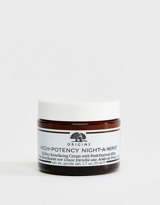 Origins High-Potency Night-a-Mins Oil-Free Resurfacing Cream with Fruit-Derived AHAs 50ml