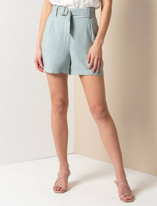 Forever New Bonnie Belted Shorts - Soft Khaki - 4