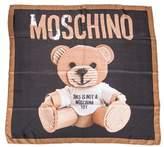 Moschino Women's Brown/black Silk Scarf.