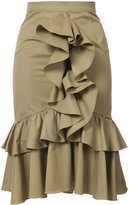 Tome ruffled midi skirt - women - Cotton - 0