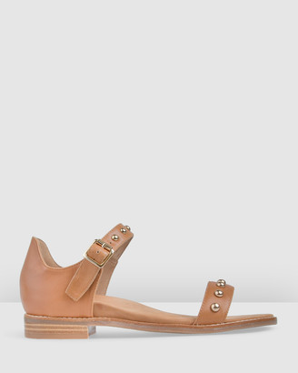 Bared Footwear - Women's Brown Sandals - Lyrebird Flat Sandals - Women's - Size One Size, 35 at The Iconic