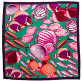 Kenzo Fish Print Silk Scarf