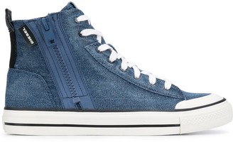Diesel Denim High-Top Sneakers