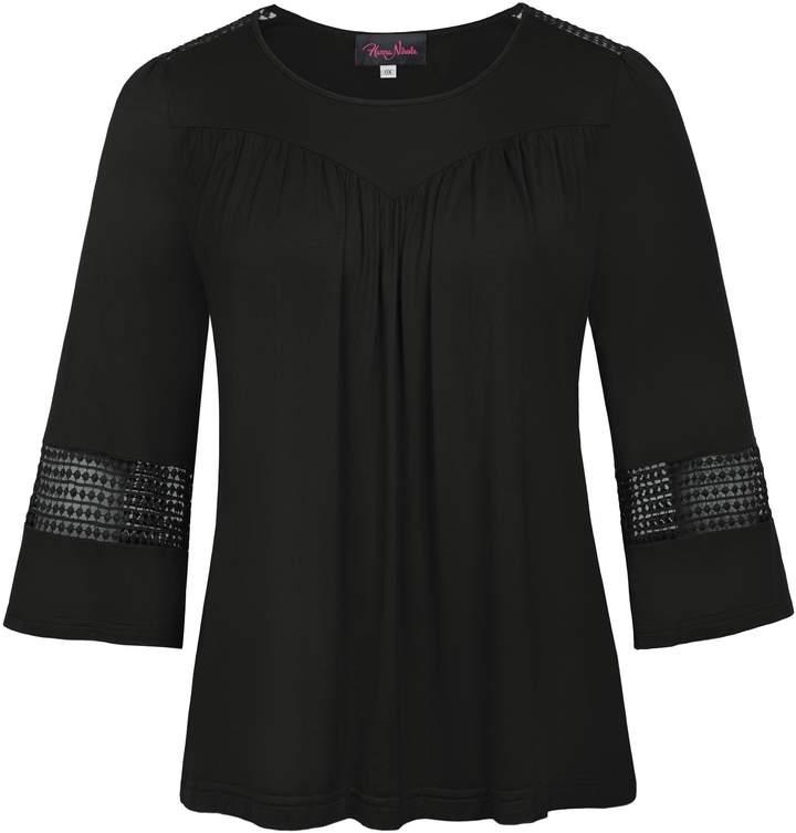 f3b49df52d Black Long Sleeve Wide Neck T-shirt - ShopStyle Canada