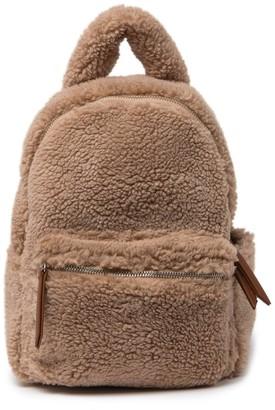 French Connection Hannah Teddi Faux Fur Mini Backpack