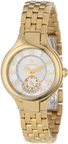 Philip Stein Teslar Women's 44GP-FMOP-SS5GP Gold-Plated Watch with Link Bracelet