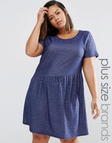 Junarose Plus Smock Dress In Denim Blue