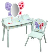 Levels of Discovery Olive Kids Butterfly Garden Vanity & Chair Set - Blue