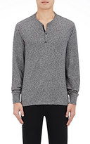 Rag & Bone Men's Jaspe Henley Cotton Shirt-GREY