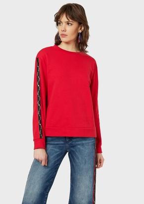 Emporio Armani Sweatshirt With Logo Band On Sleeves