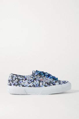 Mary Katrantzou MARY-MARE Superga Floral-print Canvas Sneakers - Blue