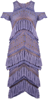 Thurley Candy Tiered Cold Shoulder Dress