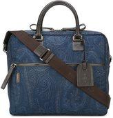 Etro removable strap laptop bag