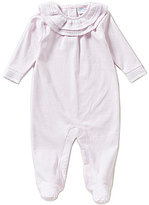Edgehill Collection Baby Girls Newborn-6 Months Knit-Trim Long-Sleeve Coverall