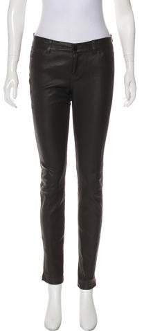 a7966f29600bc5 Suede Leather Pants - ShopStyle
