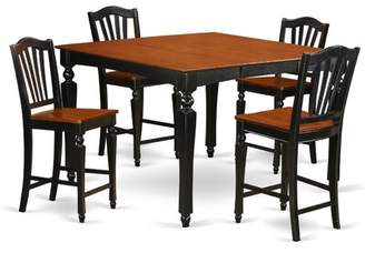 Ashworth Darby Home Co 5 Piece Pub Table Set Darby Home Co Color: Mahogany