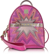 MCM Electric Pink Stark Cyber Studs XMN Backpack
