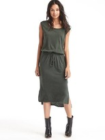 Gap Linen-cotton hi-lo tank dress