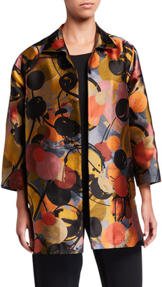 Caroline Rose Plus Size Spotlight Jacquard Topper Jacket