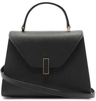 Valextra Iside Medium Grained-leather Bag - Black
