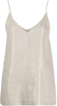 Seventy Metallic-Coated Linen Vest