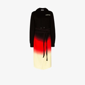Ambush Tie-Dye Split Hem Hoodie Dress