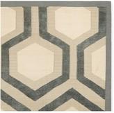 Williams-Sonoma Williams Sonoma Chenille And Cotton Hexagon Flatweave Rug