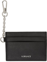 Versace Black Clip-On Chain Card Holder