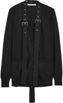 Givenchy Buckle-embellished Wool And Silk-blend Cardigan - Black