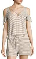 Bettie Striped Cold-Shoulder Jumpsuit