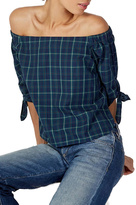 Bailey 44 Plaid Off Shoulder Top