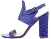 Sigerson Morrison Embossed Leather Sandals