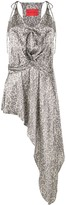 Strateas Carlucci asymmetric silk slip dress