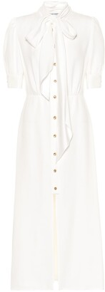 Prada Embellished sable shirt dress