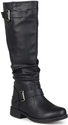 Journee Collection Stormy Riding Boot - Wide Calf