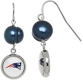 Honora NFL Stainless 9.0mm Cultured Pearl Dangle Earrings