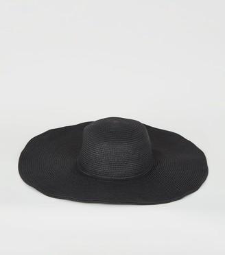 New Look Straw Effect Wide Floppy Hat